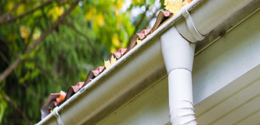 Gutters transfer water and waste material forward